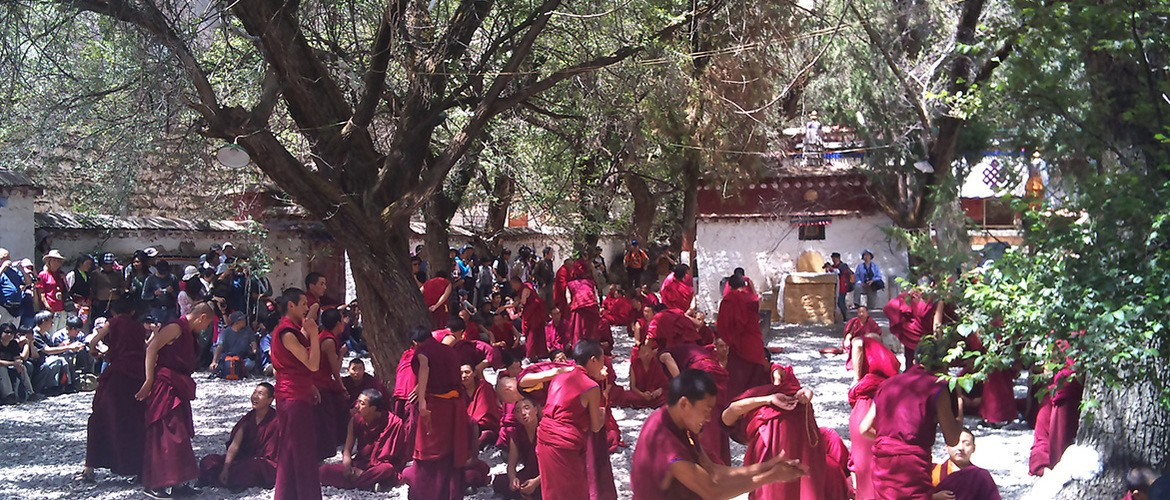 Buddhism debating is the best featured activities in Sera Monastery.