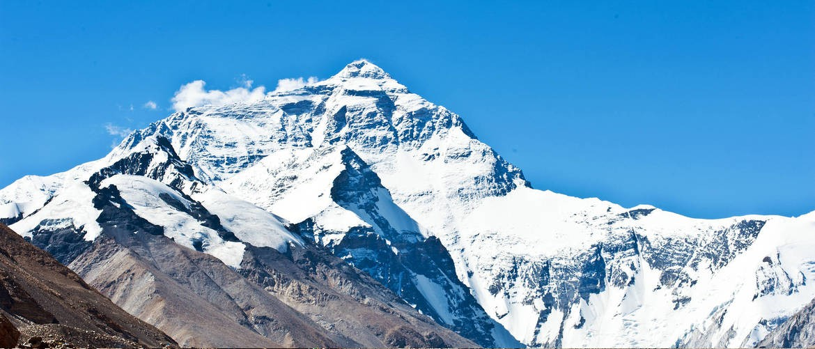Mt. Everest attracts numerous tourists for the fame of the world's highest mountain.