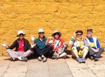 People enjoy Lhasa city essencial group tour