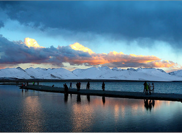 Namtso Lake at evening