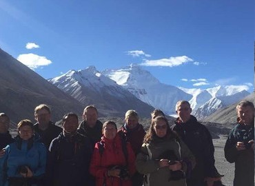 Group members for Lhasa everest namtso tour
