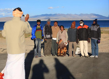 Indians traveling in Tibet as a group tour
