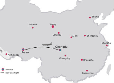 There're 14 flights flying from Chengdu to Lhasa everyday.