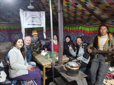 Our customers are enjoying thier time in Everest Base Camp.