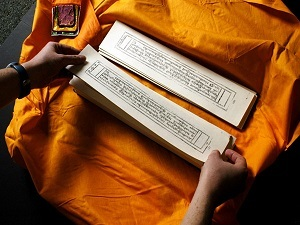 Early Tibetan language is derived from Sanskrit.