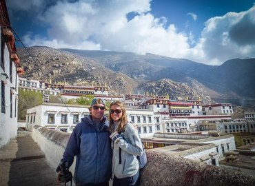 2 guests at Drepung Monastery.