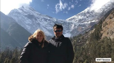Two clients have a wonderful time in Tibet.