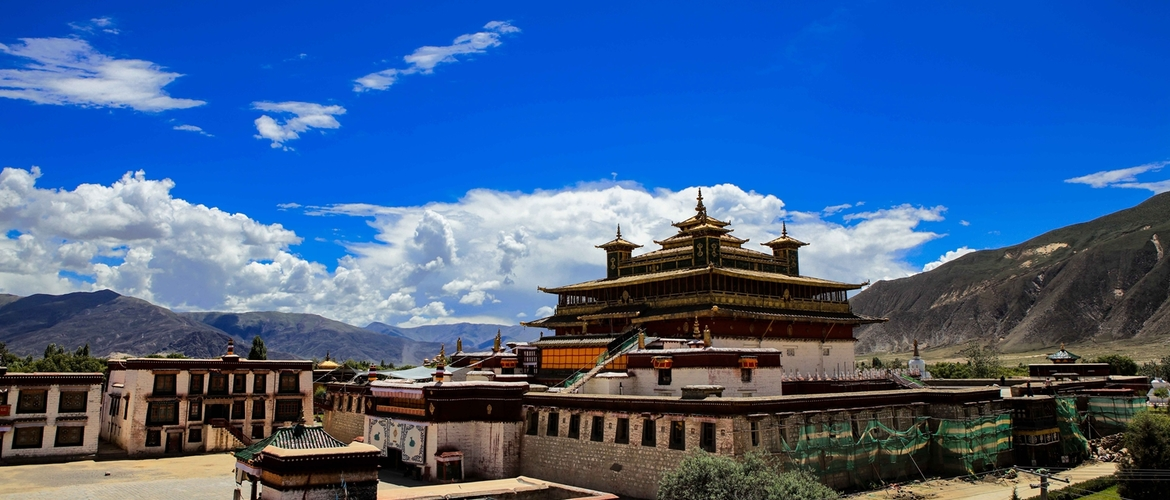 Samye Monastery is the 1st monastery in Tibet and it's also where Buddhism was established